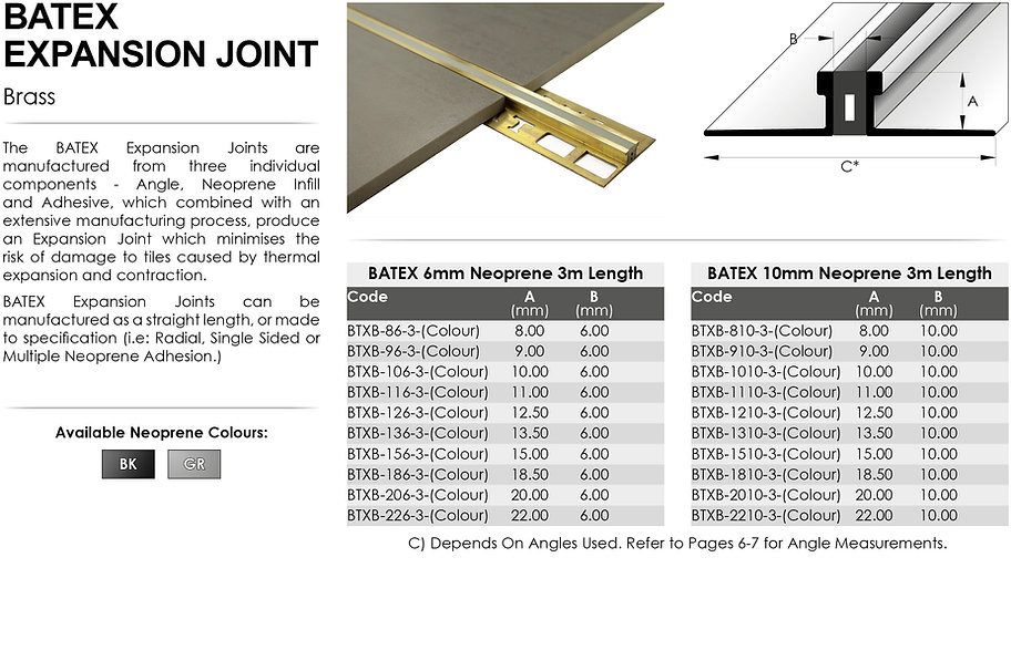 BATEX Brass Expansion Joint