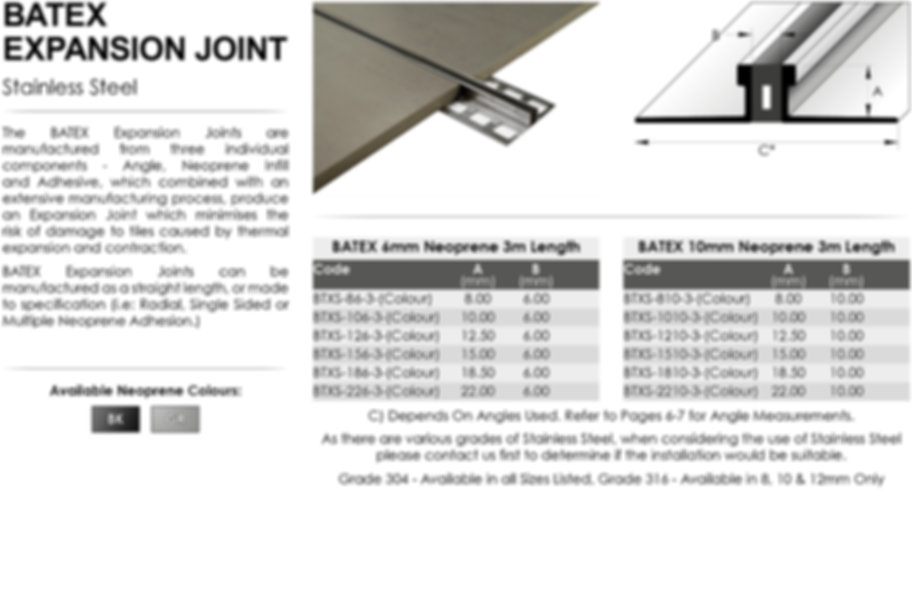 BATEX Stainless Steel Expansion Joint