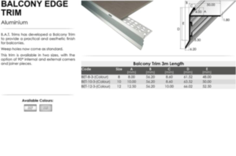 Balcony Edge Trim