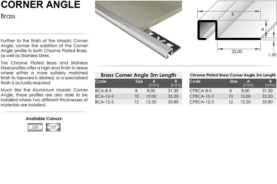 Brass Corner Angle