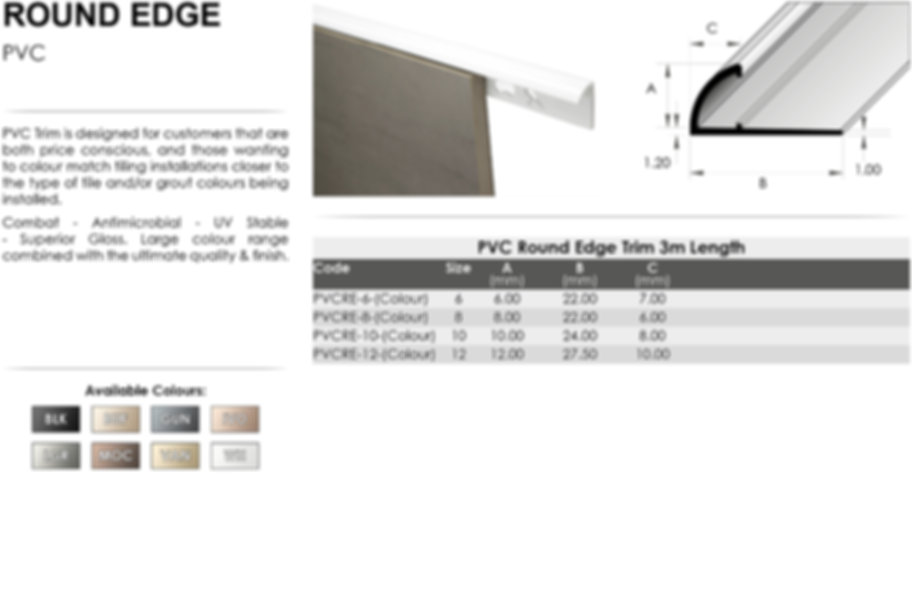 PVC Round Edge