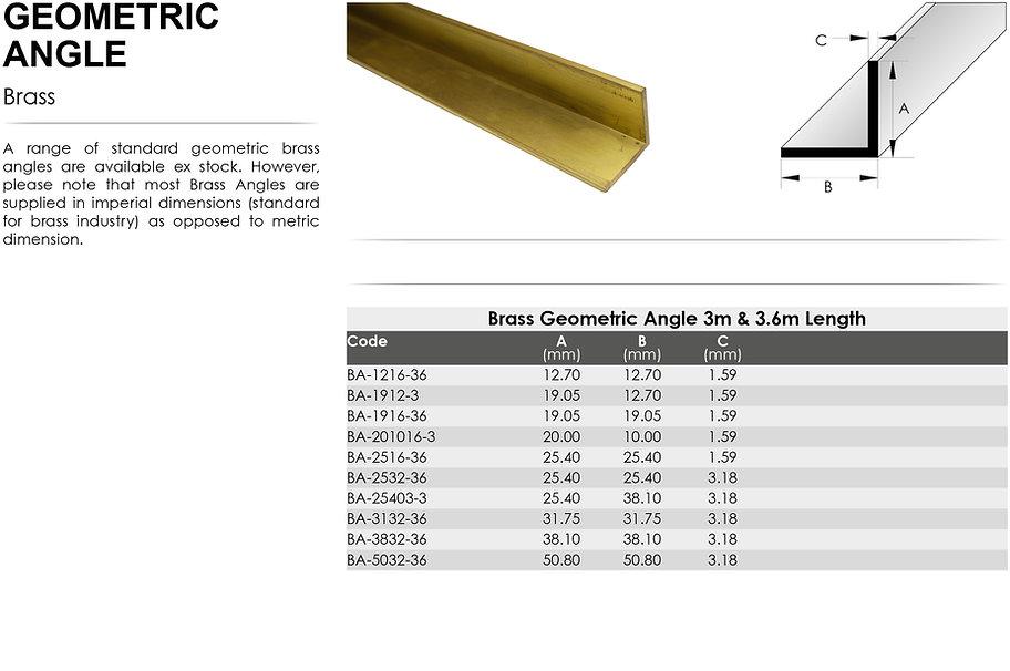 Brass Geometric Angle