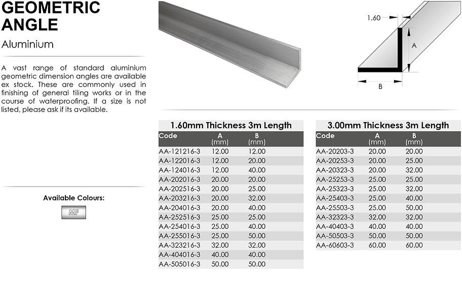 Aluminium Geometric Angle