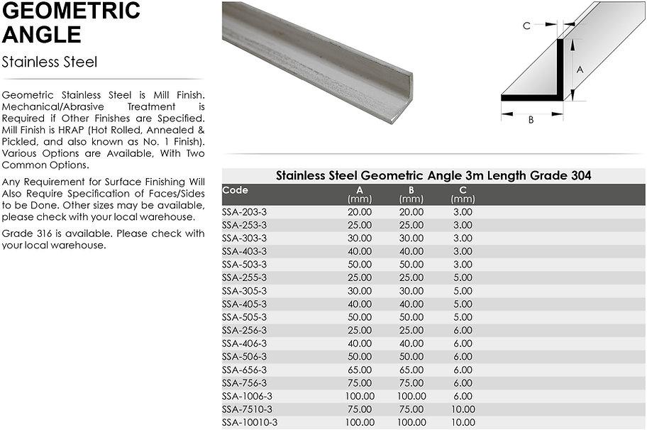 Stainless Steel Geometric Angle