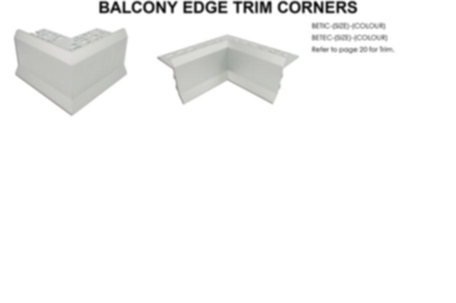Balcony Edge Trim Corners