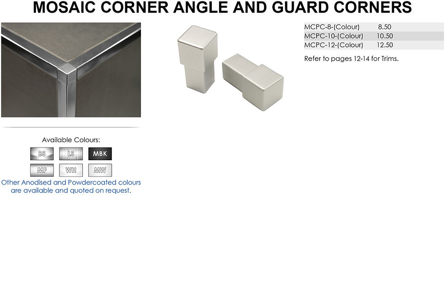 Mosaic Corner Angle and Guard Corners