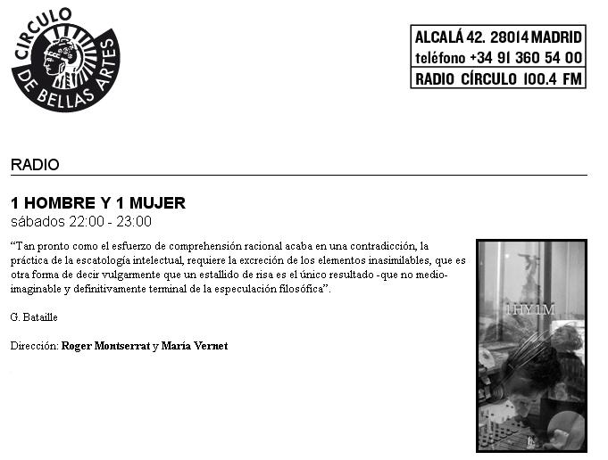 RADIO 1HY1M Círculo de Bellas Artes