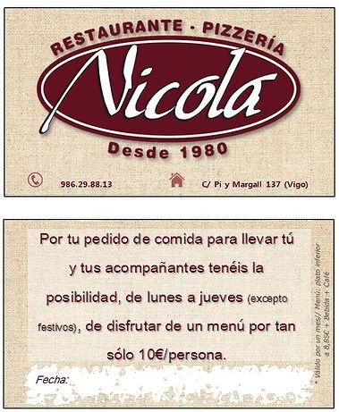 Promoción Restaurante Nicola Vigo