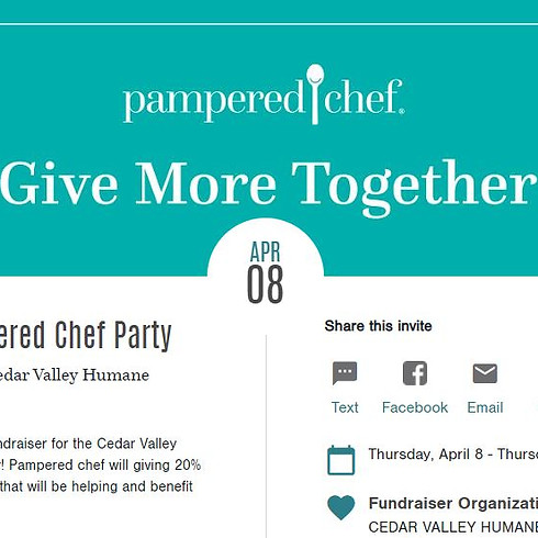 Give More Together Pampered Chef Fundraiser