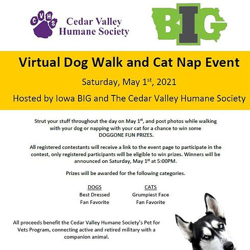 Virtual Dog Walk & Cat Nap Event