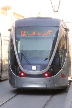 The Jerusalem Light Rail...in Arabic!