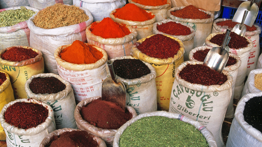 """Spices in the """"shuk"""""""