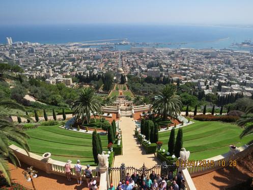 Bahai Gardens and Haifa