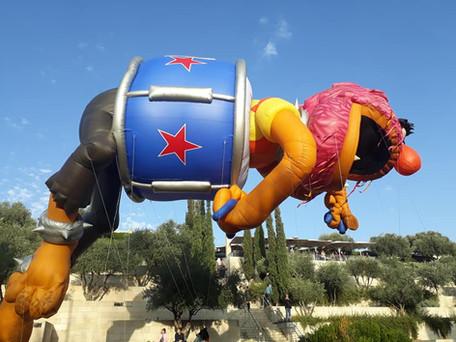 Monster visits Jerusalem
