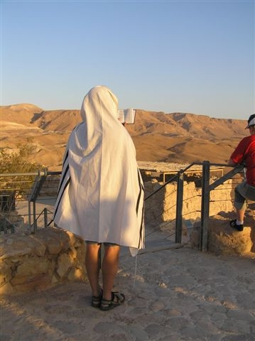 Praying over the Ramon Crater
