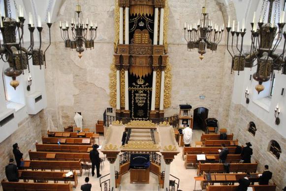 The rebuild Hurva Synagogue in Jerusalem's Old City