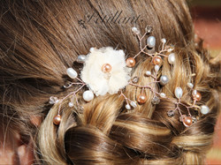 Smal hair vine with tulle flower