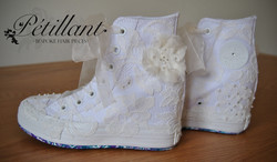 High top converse shoes with lace