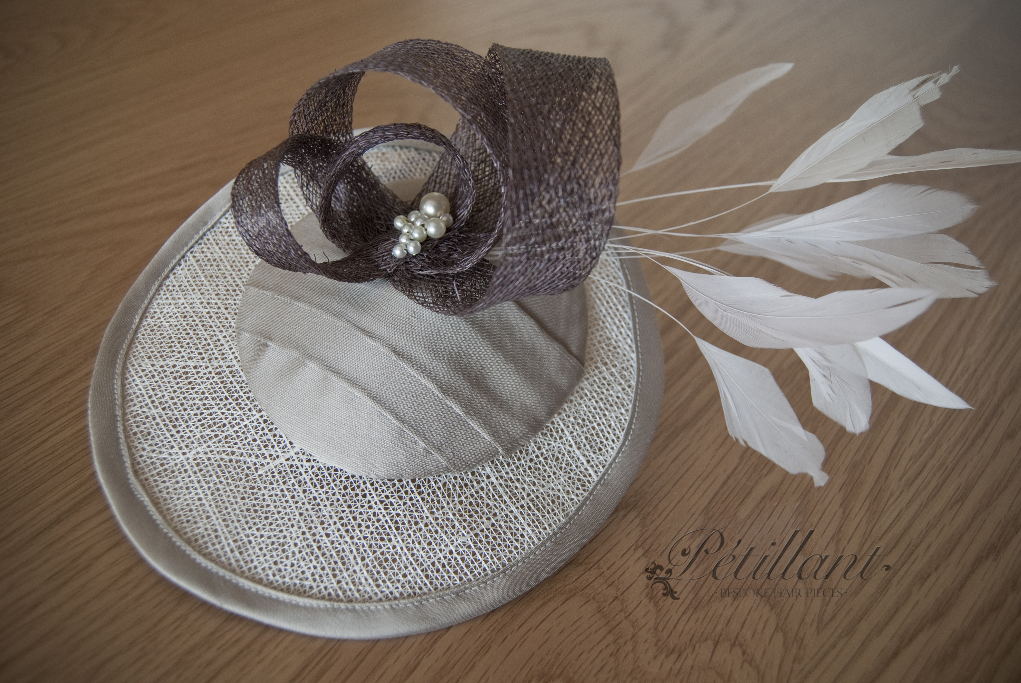 Taupe hatpiece