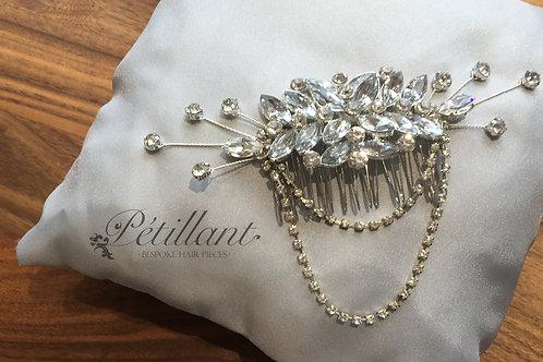 Diamante drape comb