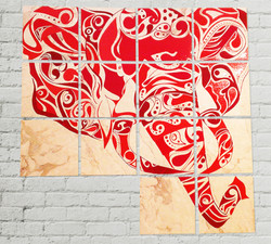 Acrylic on Floor Tiles