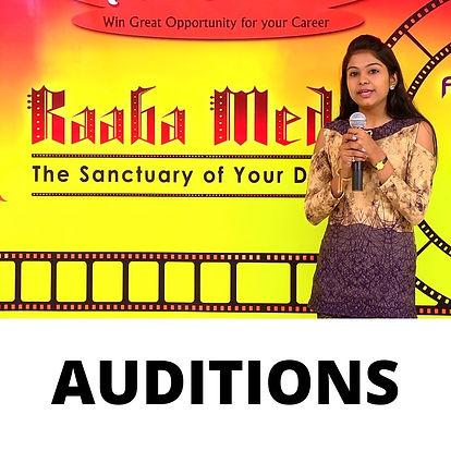 RAABA MEDIA'S AUDITIONS