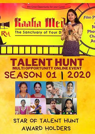 raaba media's talent hunt award holders.