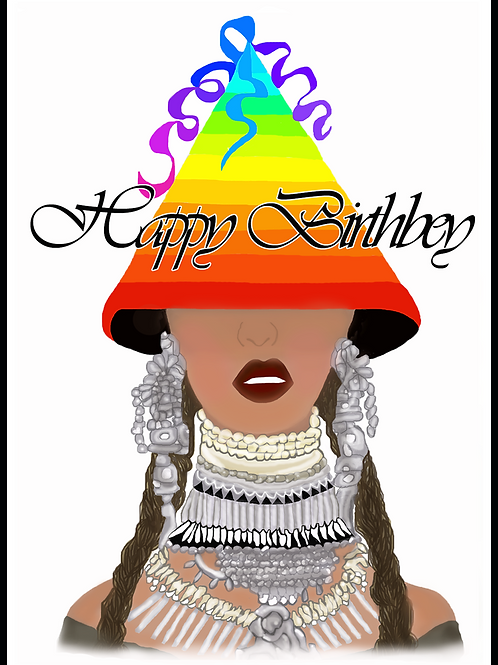 Happy BirthBey Beyonce Card