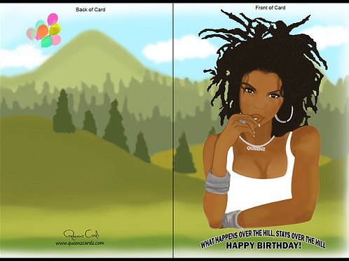Lauryn Hill Over The Hill Birthday Card