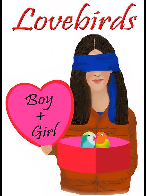 Personalized Bird Box Valentine's Day Card