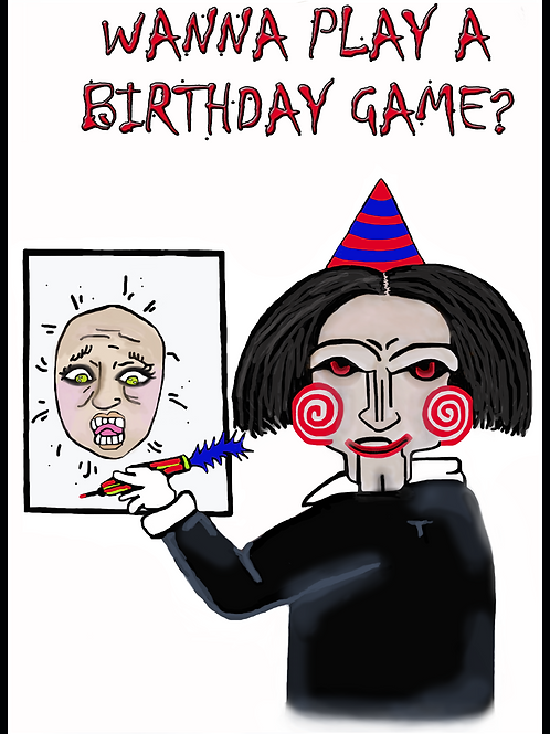 Wanna Play a Birthday Game Card