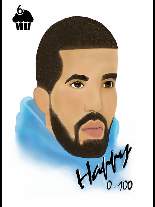 Happy 0-100 Drake Birthday Card