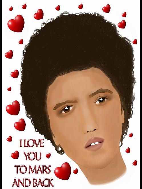 Bruno Mars Love Card