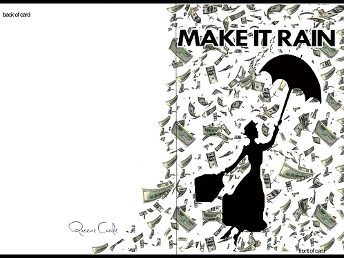 Mary Poppins Make it Rain Card