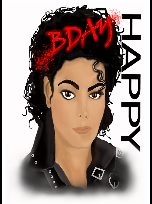 Michael Jackson B-Day Card