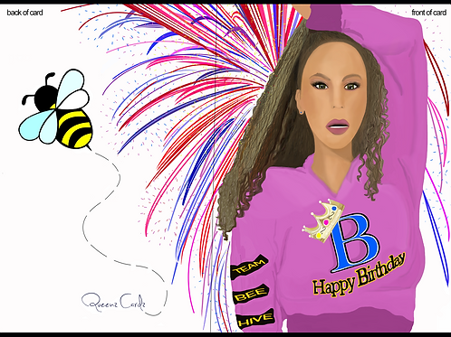 Happy Birthday Queen Beyonce Card