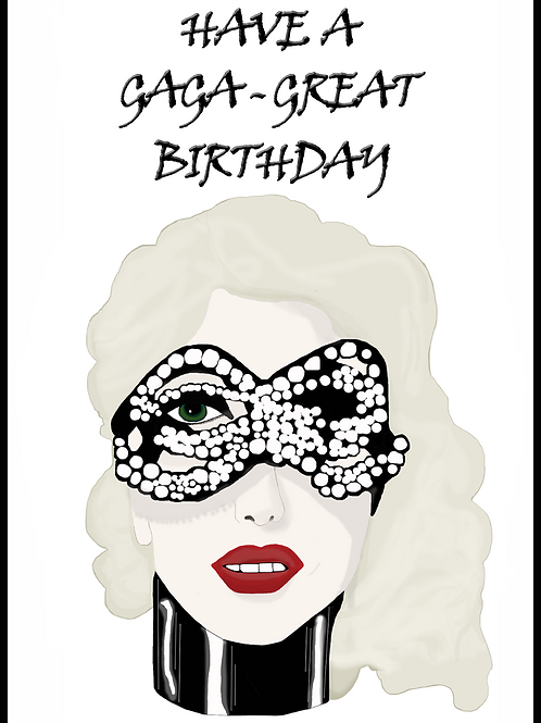 Lady Gaga Birthday Card