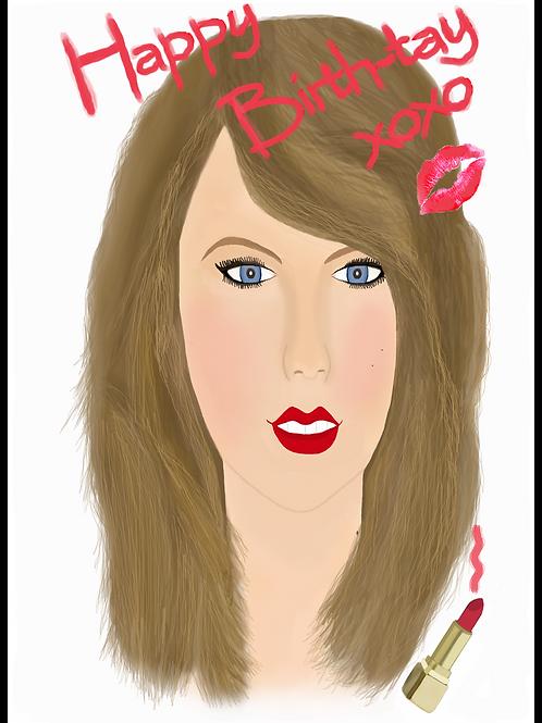 Happy Birth-Tay Taylor Swift Birthday Card