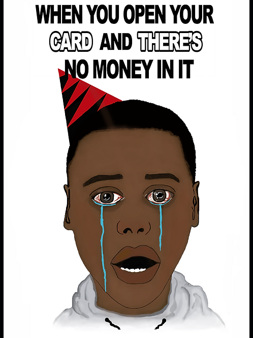 Get Out Meme Birthday Card