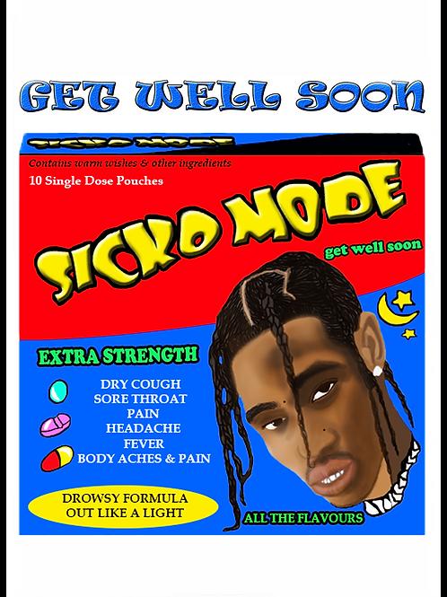 Travis Scott Get Well Soon Card (Sicko Mode)