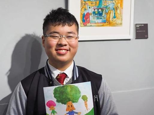 2A班黃同學的其中一幅畫作獲深圳一間教育機構青睞,採用為本年度宣傳刊物的封面。