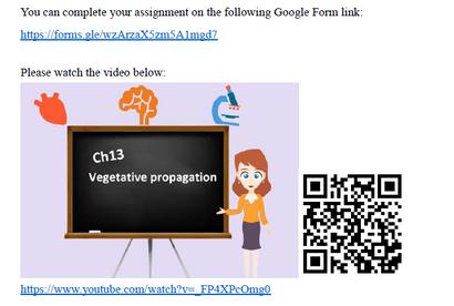 引入翻轉課堂活動,學生能以QR code在家觀看相關片段及資料