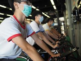 健身室踩單車