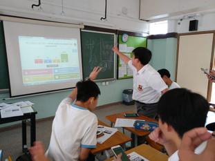 同學於課堂上透過電腦軟件積極搶答