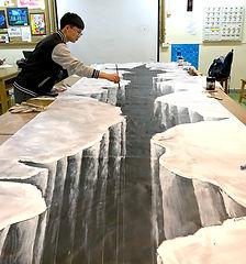 學生創作大型3D地畫.JPG