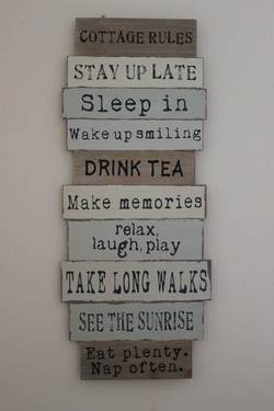 Cottage Rules