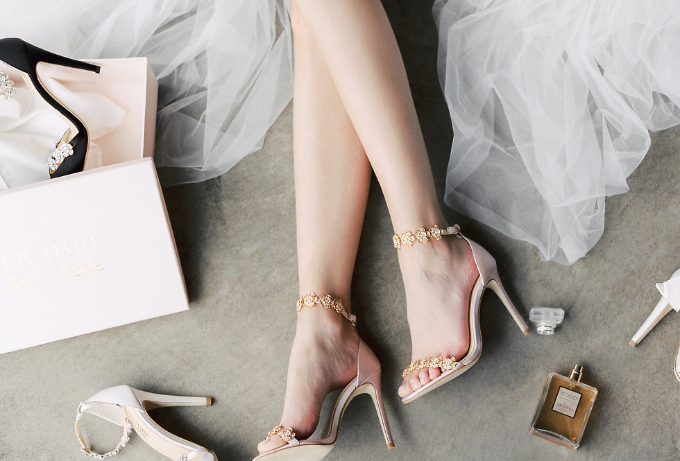 Mariée - Luxe Silk Heel with Jeweled Straps (Wholesale)