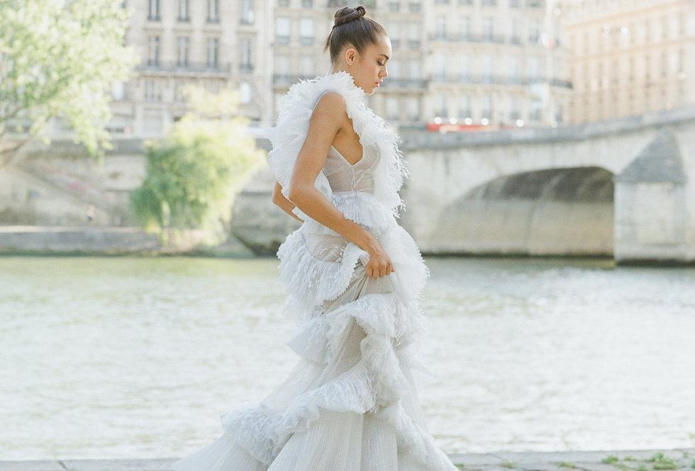 Olivia - Noir - Luxe Silk Heel Jeweled Straps