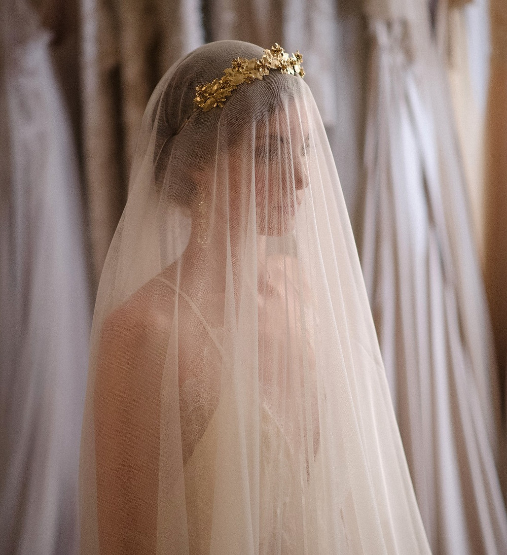 """Poeme"" Silk Tulle Veil by Liv Hart, Photo by Sara Donaldson"