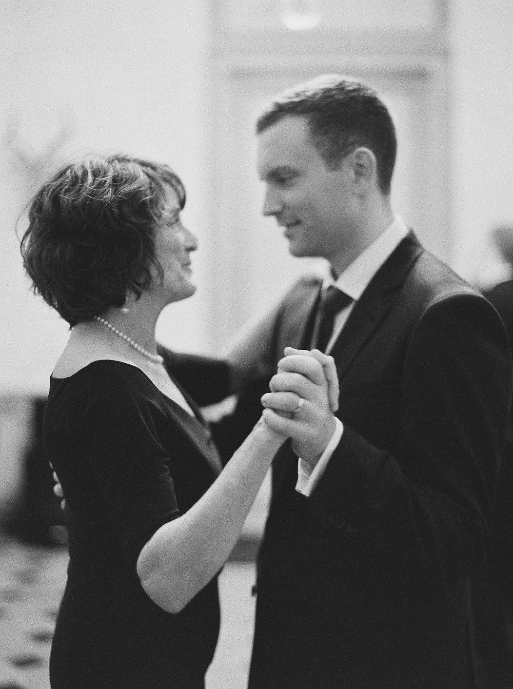 My husband dancing with my new Mother-in-Law.  I love them!! / Photo by Laura Gordon